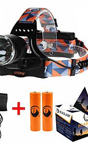 照明 ヘッドランプ・ストラップ LED 3000ML ルーメン 3 モード Cree XM-L T6 18650 調光可能 / 焦点調整可 / 充電式 / 小型 / ハイパワーキャンプ/ハイキング/ケイビング / 日常使用 / 狩猟 / 屋外 / 釣り / 旅行 /