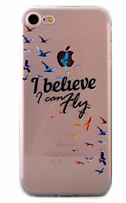For Etui iPhone 7 / Etui iPhone 6 / Etui iPhone 5 Ultratynn / Mønster Etui Bakdeksel Etui Dyr Myk TPU AppleiPhone 7 Plus / iPhone 7 /