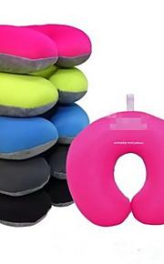 Travesseiro de Viagem Forma U para Descanso em ViagensPreto Rosa Verde Azul