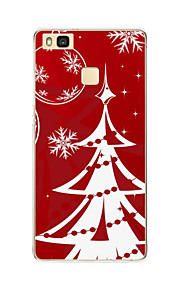 para o padrão caso de volta caso da tampa do Natal macio TPU Huawei Huawei P9 / Huawei p9 Lite / Huawei P8 / Huawei p8 Lite
