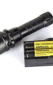 Valaistus LED taskulamput / Sukellusvalot / Käsivalaisimet LED 2000 Lumenia 1 Tila XM-L2 U2 18650Vedenkestävä / Lipsumaton kädensija /