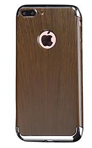 For Etui iPhone 7 / Etui iPhone 7 Plus Støtsikker / Belegg Etui Bakdeksel Etui Trefiber Hard Gummi Apple iPhone 7 Plus / iPhone 7