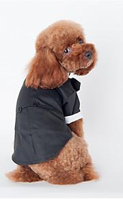 Psy Bluzy z kapturem Black Ubrania dla psów Zima / Wiosna/jesień Britsh Sportowy / Modny / Codzienne /
