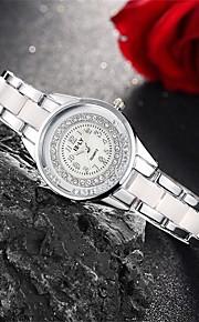 Mulheres Relógio de Moda / Bracele Relógio Quartz Impermeável Lega Banda Pendente / Casual Prata / Rosa marca