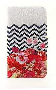 Для Кошелек / Бумажник для карт / со стендом Кейс для Чехол Кейс для Цветы Твердый Искусственная кожа LG LG G5
