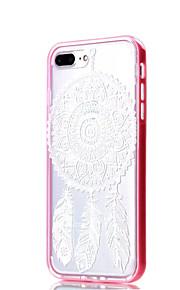 For Etui iPhone 7 / Etui iPhone 7 Plus Støtsikker / Gjennomsiktig / Mønster Etui Bakdeksel Etui Mandala Myk TPU AppleiPhone 7 Plus /