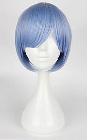 Pelucas de Cosplay Cosplay Cosplay Azul Corto Animé Pelucas de Cosplay 35cm CM Fibra resistente al calor Mujer