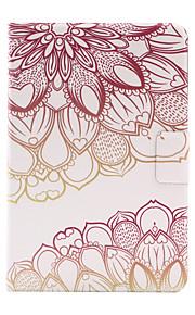 För Korthållare / Origami fodral Skal fodral Blomma Hårt PU-läder för Apple iPad Mini 4 / iPad Mini 3/2/1