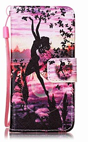 Butterfly Girl Painting PU Phone Case for apple iTouch 5 6
