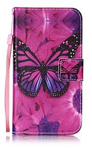 용 지갑 / 카드 홀더 / 스탠드 / 플립 / 패턴 케이스 풀 바디 케이스 버터플라이 하드 인조 가죽 용 HTC HTC Desire 626