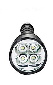 Luci Torce LED LED 3800 Lumens 5 Modo LED 18650 / AAA Dimmerabile / Impermeabili / Ultraleggero / Alta intensità