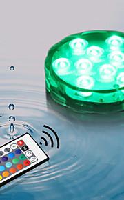 4Pcs Draadloos Others Rgb 10Led Smd5050 4.5v Remote Waterproof Vase Lamp Meerkleurig