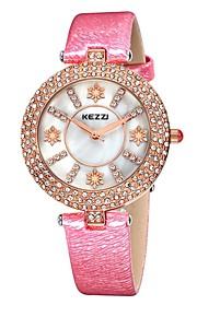 KEZZI Mulheres Relógio de Moda Quartzo Quartzo Japonês PU Banda Heart Shape Casual Preta Branco Azul Vermelho RosaBranco Preto Vermelho
