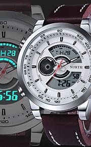 Masculino Relógio Esportivo / Relógio Elegante / Relógio de Moda / Relógio de Pulso QuartzImpermeável / Dois Fusos Horários / Luminoso /