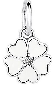sterling sølv diamant vedhæng og kløver lim levering sterling sølv perler