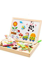 puslespil Magnetiske puslespil / Pædagogisk legetøj / Puslespil Byggesten DIY legetøj Fugl / Gris / Roser / Sol / Bus Træ Regnbue