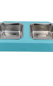 Katt / Hund Matbehållare Husdjur Skålar & Feeding Vattentät / Ledigt/vardag Slumpmässig färg Plast / Rostfritt Stål