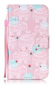 용 지갑 / 카드 홀더 / 스탠드 / 플립 / 패턴 케이스 풀 바디 케이스 코끼리 하드 인조 가죽 용 HTC HTC Desire 626