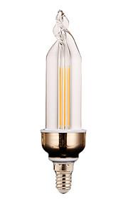 4W E14 Dekorations Lys 2 COB 300-400 lm Varm hvit / Kjølig hvit Dekorativ V 1 stk.