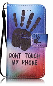 Hand Painting PU Phone Case for apple iTouch 5 6