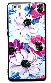 Para Diseños Funda Cubierta Trasera Funda Flor Suave TPU para HuaweiHuawei P9 / Huawei P9 Lite / Huawei P9 Plus / Huawei P8 / Huawei P8