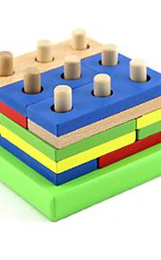Blocos de Construir para presente Blocos de Construir Jogos & Quebra-Cabeças Madeira 5 a 7 Anos Brinquedos