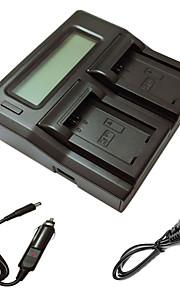 ismartdigi FW50 lcd dual oplader med bil afgift kabel til sony A5000 a5100 a7r nex6 7 5TL 5r 5n 3NL C3 kamera batterys