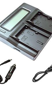 ismartdigi lpe6 lcd dual oplader med bil afgift kabel til canon 5d2 5d3 6d 7d 7d2 60D 70d kamera batterys