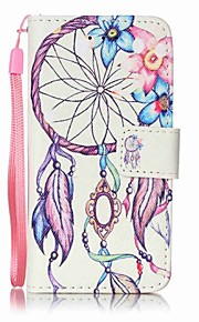 Flowers Wind Chimes Painting PU Phone Case for apple iTouch 5 6