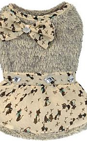 Cani Maglioni Grigio Abbigliamento per cani Inverno / Primavera/Autunno Fantasia animale Casual