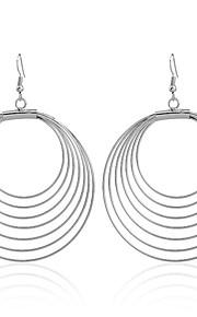 May Polly  European and American pop metal simple hollow circular Earrings