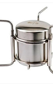 Stainless Steel Stove Single Camping Picnic BBQ Hiking Outdoor