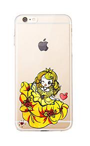 Para Transparente / Diseños Funda Cubierta Trasera Funda Chica Sexy Suave TPU para AppleiPhone 7 Plus / iPhone 7 / iPhone 6s Plus/6 Plus