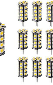 4W G4 2-pins LED-lampen T 30 SMD 5050 360 lm Warm wit Koel wit Dimbaar Decoratief DC 12 V 10 stuks