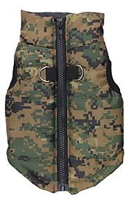honden Jassen / Jack Rood / Blauw / Beige / Roos / Camouflage Kleur Hondenkleding Winter / Lente/Herfst camouflageModieus /
