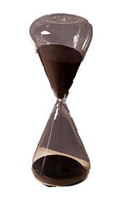 Timeglas Originalt legetøj Cylinder-formet Glas Sort Fade Til drenge Til piger 8 til 13 år 14 år og op efter