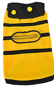 Dog Costume Yellow Dog Clothes Summer / Spring/Fall Stripe Casual/Daily