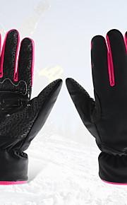 スキー手袋 フルフィンガー 女性用 スポーツグローブ 保温 / 防滑り / 防水 / 防風性 / 耐雪性 / 速乾性 BOODUN® スキー ポリエステル100% / ポリエステル / レザーレット スキーグローブ 冬ホワイト / ブラック / ダークブルー /