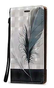 Для Кошелек / Бумажник для карт / Флип Кейс для Чехол Кейс для Перо Твердый Искусственная кожа для Samsung Note 5 / Note 4 / Note 3