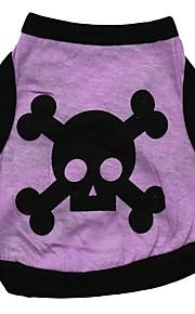 犬用品 Tシャツ / ベスト オレンジ / グリーン / パープル / グレー 犬用ウェア 夏 スカル ファッション / ハロウィーン
