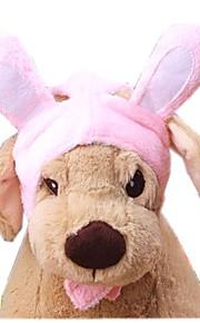 Katter / Hundar Dräkter/Kostymer / Bandana & Hattar Rosa Hundkläder Vinter / Vår/Höst Enfärgat Gulligt