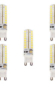 3.5 G9 LED-lamper med G-sokkel T 64 SMD 2835 320-340 lm Varm hvit Kjølig hvit Dimbar Vanntett AC110 AC220 V 5 stk.