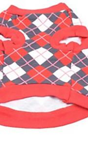 honden kostuums Rood Hondenkleding Zomer / Lente/Herfst Meetkundig Casual/Dagelijks