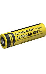nitecore nl1832의 3200mah 3.7의 11.8wh 18650 리튬 이온 충전지