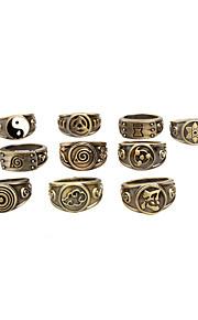 Smycken Inspirerad av Cosplay Hokage Animé Cosplay Accessoarer Ring Guld Legering Man Kvinna