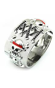 Smycken Inspirerad av One Piece Monkey D. Luffy Animé Cosplay Accessoarer Armband Silver Legering Man Kvinna