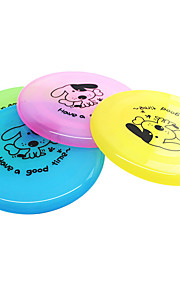 Dog Toy Pet Toys Flying Disc Cartoon Plate Plastic