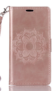 For Sony Xperia XA X PU Leather Material Datura Flowers Pattern Butterfly Phone Case