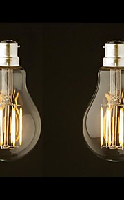 8W B22 LED-gloeilampen G60 8 COB 800 lm Warm wit Dimbaar AC 220-240 AC 110-130 V 2 stuks