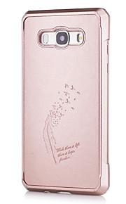 Per Fantasia/disegno Custodia Custodia posteriore Custodia Tinta unita Morbido Similpelle per Samsung J5 (2016)